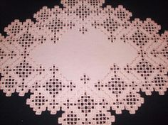 Hardanger Handcrafted Finished Doily...