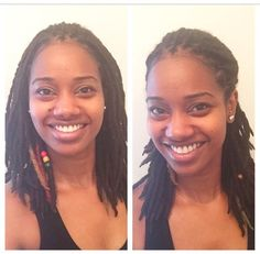 Shoulder length locs