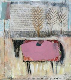 ... aneth huyette-patay ... as seen at the art room plant ... / horse / book-page / collage