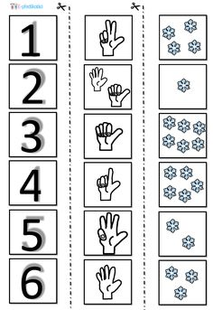 Zimní pracovní list - matematické představy Abc Preschool, Numbers Preschool, Homeschool Kindergarten, Preschool Worksheets, Teaching Math, Winter Activities For Toddlers, Toddler Learning Activities, Act Math, Kindergarten Portfolio