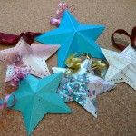 How to make  stars from old Christmas cards