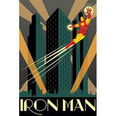 East Urban Home 'Iron Man Minimalistic' Vintage Advertisement on Canvas Size: