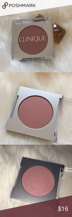 Clinique Sunset Glow Blush Mini .11 oz never used or swatched. Mini size. Clinique Makeup Blush