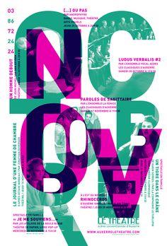 Affiche Théâtre d'Auxerre - Novembre - Décembre 2012