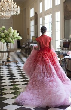 It's your wedding, and you'll wear ombre pink if you want to! Giambattista Valli