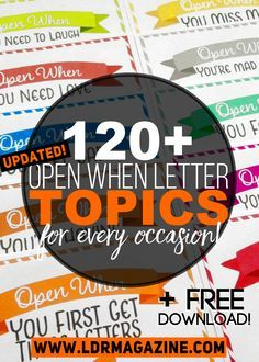 Open when letters are a bit of a viral phenomenon among the LDR community. Parents are sending them to far …