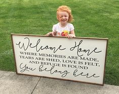 welcome home - where memories are made, tears are shed, love is felt, and refuge is found - you belong here wood sign farmhouse decor. Home Decor Signs Sayings Home Decor Signs, Diy Signs, Diy Home Decor, Welcome Home Signs, Welcome Home Decorations, Country Farmhouse Decor, Farmhouse Signs, Up House, Pallet Signs