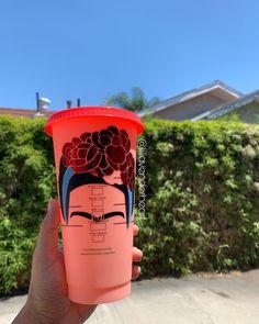 Personalized Starbucks Cup, Custom Starbucks Cup, Custom Cups, Diego Rivera, Bottles, Cricut, Mugs, Gifts, Shopping