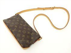 Louis Vuitton Authentic Monogram Trotteur Cross body Shoulder Bag Auth LV…