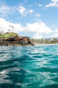 Black Rock on Ka'anapali beach, Maui. This is what it looks like when you come up for air when snorkeling on Black Rock! This is my favorite place on earth!