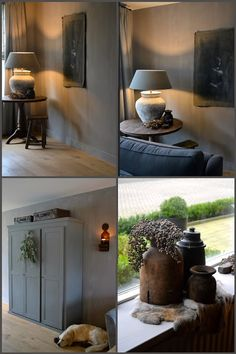 Leuke nieuwe photodiary op www. Farmhouse Design, Rustic Design, Country Livingrooms, Estilo Interior, Belgian Style, Home Board, Front Rooms, Sweet Home Alabama, Living Styles