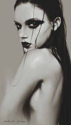 4 Russian girls - Digital Art by Antarctic Spring Black Smokey Eye Makeup, Edgy Makeup, Dark Makeup, Dark Photography, Portrait Photography, Creative Portraits, Deviantart, Dark Fashion, Graphic Illustration