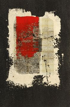 Ancestor Letters 6. 26x20. Mixed media on paper. by Marjorie Guyon