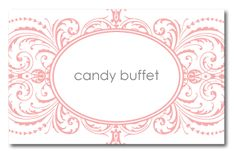 Free Printable Stationery Designs | also designed tags for Carolyn to label the different candies in her ...