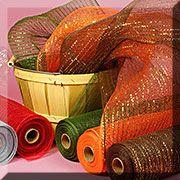 Metallic Threads In Deco Mesh