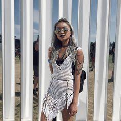 crochet and knit designer Hippie Chic, Bohemian Style, Boho Fashion, Fashion Outfits, Festival Fashion, Festival Style, Knitting Designs, Crochet Clothes, Dress Up