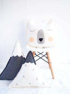 Image of PRE-ORDER: Snowy Mountains wool felt cushion