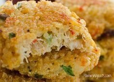 Slimming Eats Recipe Extra Easy – syn free per serving Gluten Free Crab and Quinoa Cakes Print Makes 12 patties Author: Slimming Eats Ingredients ½ cup of uncooked quinoa of crab meat (fresh or canned) 1 cup of fish stock (or you ca Slimming Eats, Slimming World Recipes, Vegetarian Recipes, Cooking Recipes, Healthy Recipes, Vegetable Recipes, Healthy Foods, Healthy Eating, Crab Dishes