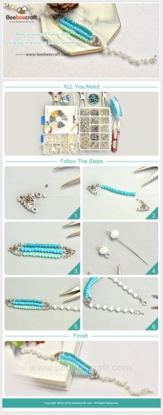 Seed beads & bugle beads are tiny beads that can be used in many jewelry making projects. They are rich in colors, bring you to create rainbow color jewelry and craft works. Seed Bead Jewelry, Jewelry Findings, Wire Jewelry, Jewelry Crafts, Beaded Jewelry, Beaded Bracelets, Jewlery, Necklaces, Diy Jewelry Instructions