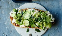 Flatbread with Fava Beans, Cucumbers, and Burrata Recipe