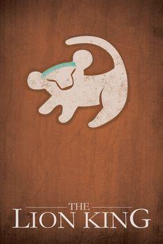 Lion King MINIMALISM by Jacquelyn Halpern, via Behance