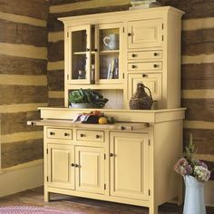 Yield House Furniture Country Kitchen Hutch Cupboards Storage Dining