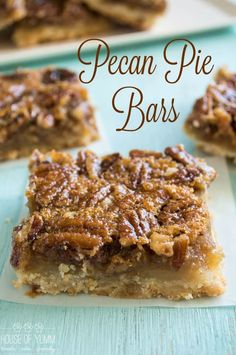 This Pecan Pie Bar is the perfect laidback version of it's cousin the pie. P… This Pecan Pie Bar is the perfect laidback version of it's cousin the pie. Pecan Pie filling on top of a flaky, sugar cookie type crust. Pecan Recipes, Baking Recipes, Cookie Recipes, Pecan Pie Cookie Recipe, Recipe For Pecan Pie Bars, Pecan Pie Muffins, Pecan Pie Cookies, Blondie Recipe, Best Pecan Pie