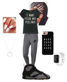 """Untitled #59"" by lillayna on Polyvore featuring NIKE, BP., Casetify and Roberto Coin"