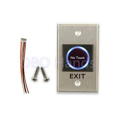 Back To Search Resultssecurity & Protection Access Control 2 Pcs Of Mool Aluminum Exit Door Strike Push Release Button Switch Panel For Access Control
