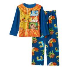 Boys+6-12+Pokmon+Fully+Charged+2-Piece+Pajama+Set