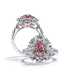 Hartman's. Via Argyle Pink Diamonds  (@argylepinkdiamonds_official) on Instagram: Bespoke Scandanivian jewellery at its best: The 'Copenhagen Pink Ring' by @hartmanns_official, featuring an exquisitely rare 1.41ct pear shaped Fancy Vivid Argyle Pink Tender diamond. An historic fancy diamond cut, pear-shapes date back to as early as the 14th century.