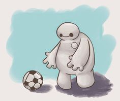 Baymax is reaching for the ball:)