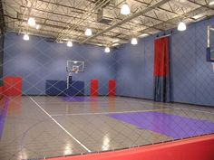 my indoor basketball court