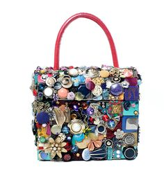 ButtonArtMuseum.com - button bag - doesn't this look like fun?