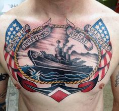 Top 75 Best Sailor Tattoos For Men - Classic Nautical Designs Marine Tattoos, Navy Tattoos, Sailor Tattoos, Tattoos For Guys, Tattoos For Women, Mens Tattoos, Traditional Tattoo Woman, Sailor Jerry, Nautical Design