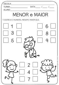 actividades de numero menos y numero mayor Preschool Writing, Kindergarten Math Worksheets, Preschool Games, Activities For Kids, Alphabet Templates, Math Books, Math For Kids, Classroom Quotes, Math Lessons
