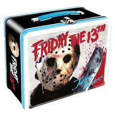 (affiliate link) Friday the 13th Large Fun Box Tin Tote