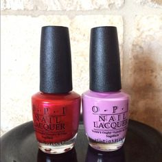 SOLD -Opi nail polish, never been opened 2 Opi nail polishes - colors shimmering red and lavender Opi Other