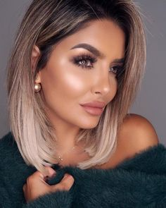 color for this year ! Hair color for this year ! -Hair color for this year ! Hair color for this year ! - Hair And Makeup Naturally Pretty Ombre Hair Color, Hair Color Balayage, Hair Color 2018, Pretty Hair Color, Hair Colour, Ombré Hair, Blonde Hair, Medium Hair Styles, Curly Hair Styles
