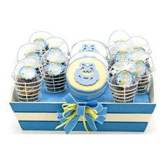 Proyectos  Despachador de recuerdos baby shower azul