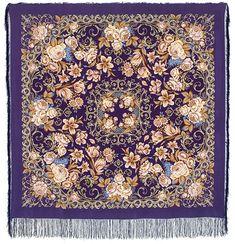 Павлопосадские платки : Королевский бал 1470-13, павлопосадский платок (шаль, крепдешин) шелковый с шелковой бахромой