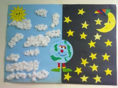 Day And Night Crafts For Preschoolers - Day And Night Craft Idea For Kids 1 Crafts And Worksheets For Day And Night Craft Idea For Kids Kindergarten Art Activities Day And Night Craft Presch. Kindergarten Science, Preschool Lessons, Preschool Crafts, Toddler Crafts, Crafts For Kids, Arts And Crafts, Opposites Preschool, Classroom Crafts, Bible Crafts