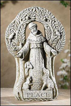 Saint Francis Peace Tree Garden Statue – Beattitudes Religious Gifts