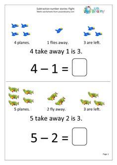 Subtraction Number Stories - Flight