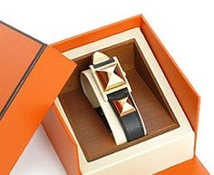 . Hermes Watch, From Rags To Riches, Hermes Orange, Arm Party, Luxury Shop, Gold Watch, Watches, Polyvore, Design
