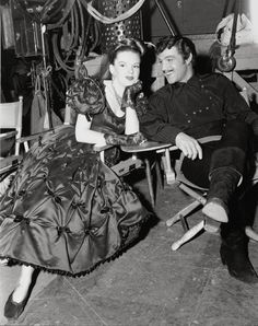 """Judy Garland & Gene Kelly, """"The Pirate."""" Wearing Joseff of Hollywood jewelry Golden Age Of Hollywood, Vintage Hollywood, Hollywood Stars, Classic Hollywood, Hollywood Photo, Hollywood Icons, Gene Kelly, Barbara Stanwyck, Judy Garland"""
