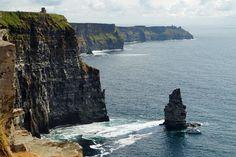 Cliffs of Moher Irland - Sonntagsgrüße Bilder Cliffs Of Moher, Land Scape, Illustration, Water, Outdoor, Pictures, Printing On Wood, Artist Canvas, Canvas Frame