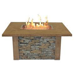 Sierra Fire Pit Table - Rectangle Burner