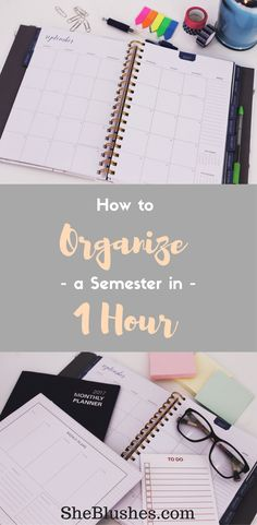 How to get organized and succeed in college? Here is a complete guide to organize a semester in 1 hour. Click to learn more...