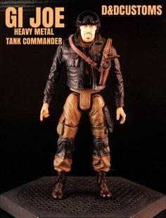 "GI JOE HEAVY METAL Tank Commander 6"" 1:12th Scale (G.I. Joe) Custom Action Figure [CUSTOM GI JOE MARVEL LEGENDS BLACK SERIES STYLE 6"" INCH HEAVY METAL 1:12th SCALE]"